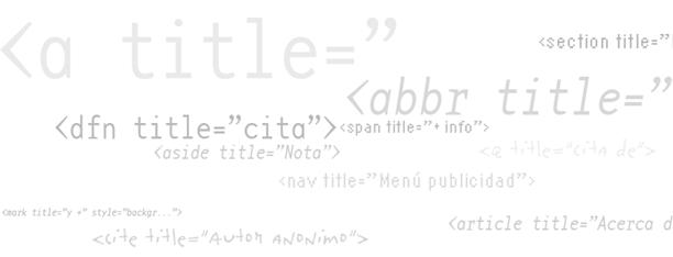 El atributo 'title' en la web semántica