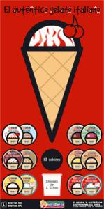 Diseño de Cartel de supermercado para marca de helados