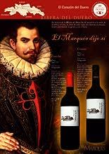 Cartel publicitario bodega de vinos y slogan. Rivera del Duero