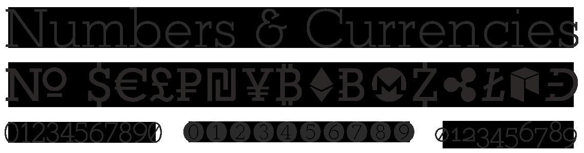 Coltan Gea Slab - Numbers & Currencies