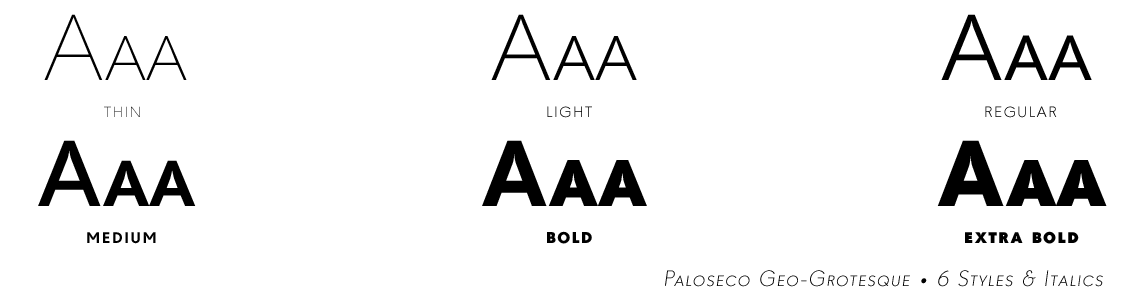 Paloseco Sans Geo-Grotesque Typeface Family