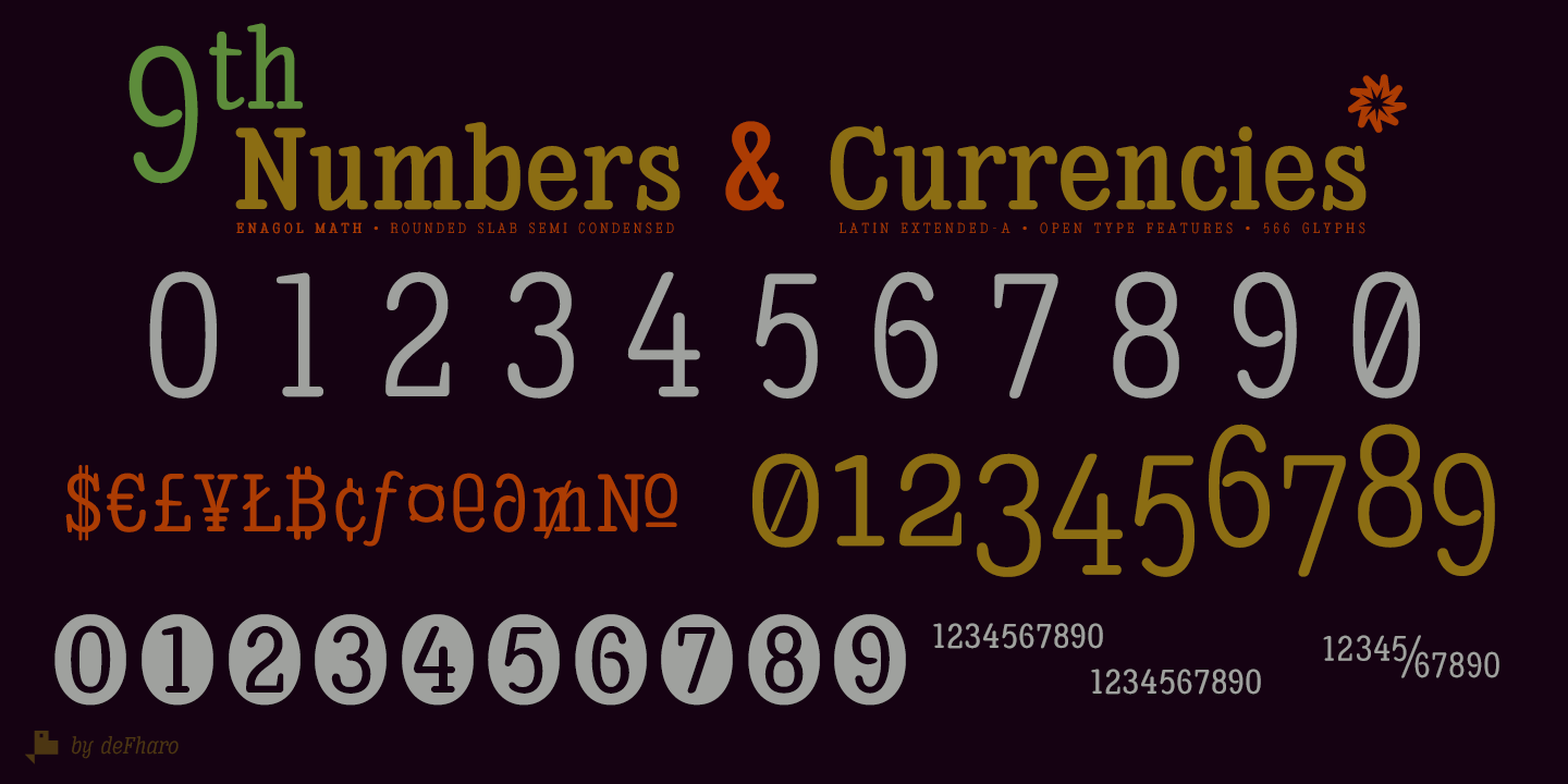 Enagol-Semi-Condensed-Round-Slab-numbers