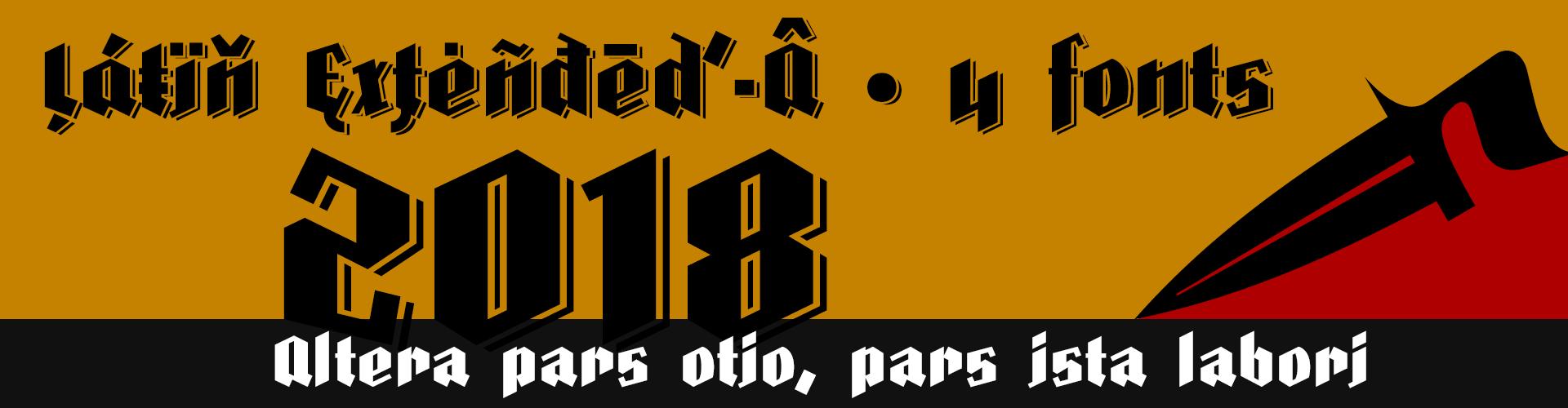 Farisea Fraktur - Altera pars otio, pars ista labori.