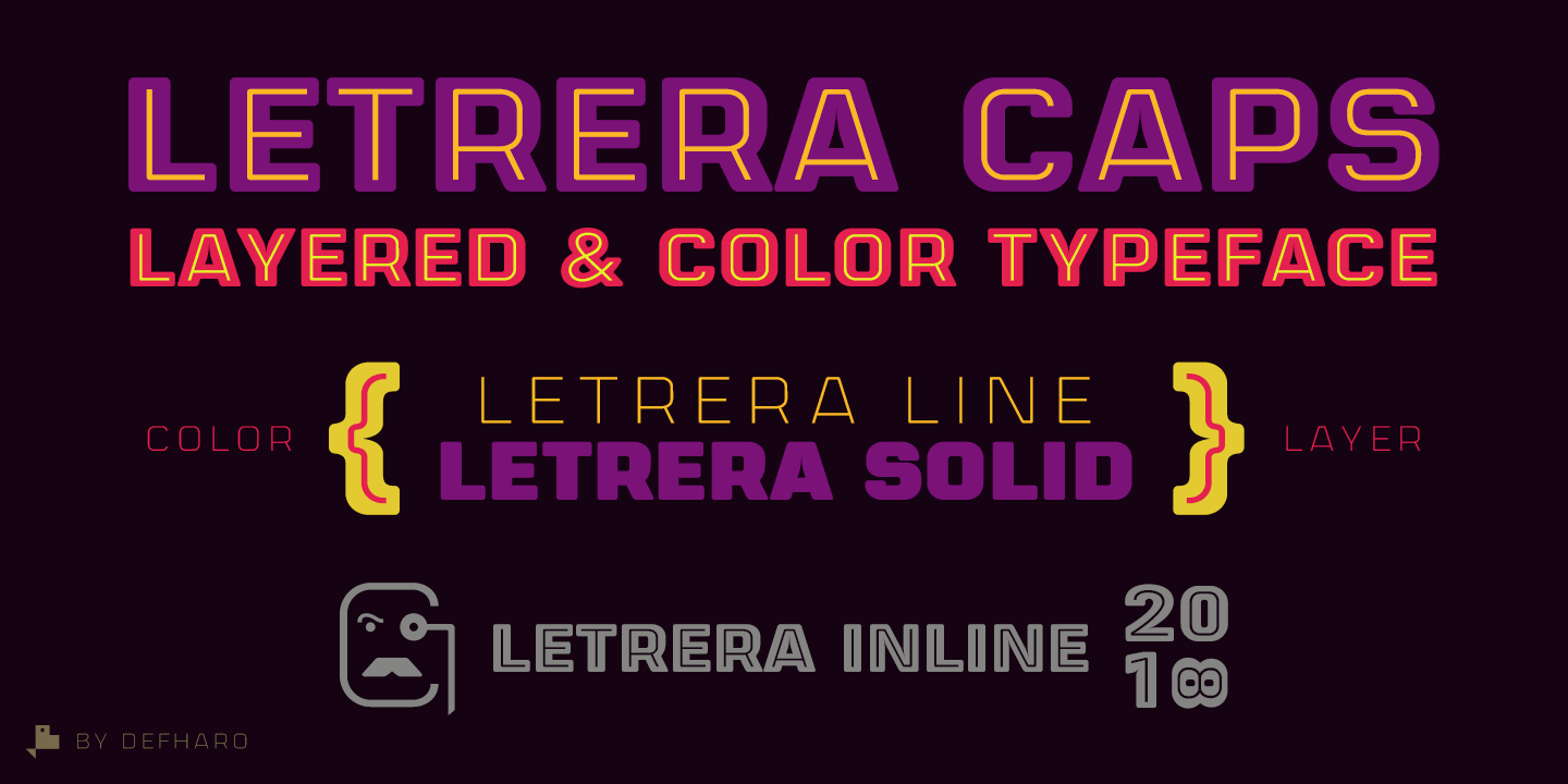 Letrera-Caps-Layered-Color-Typeface