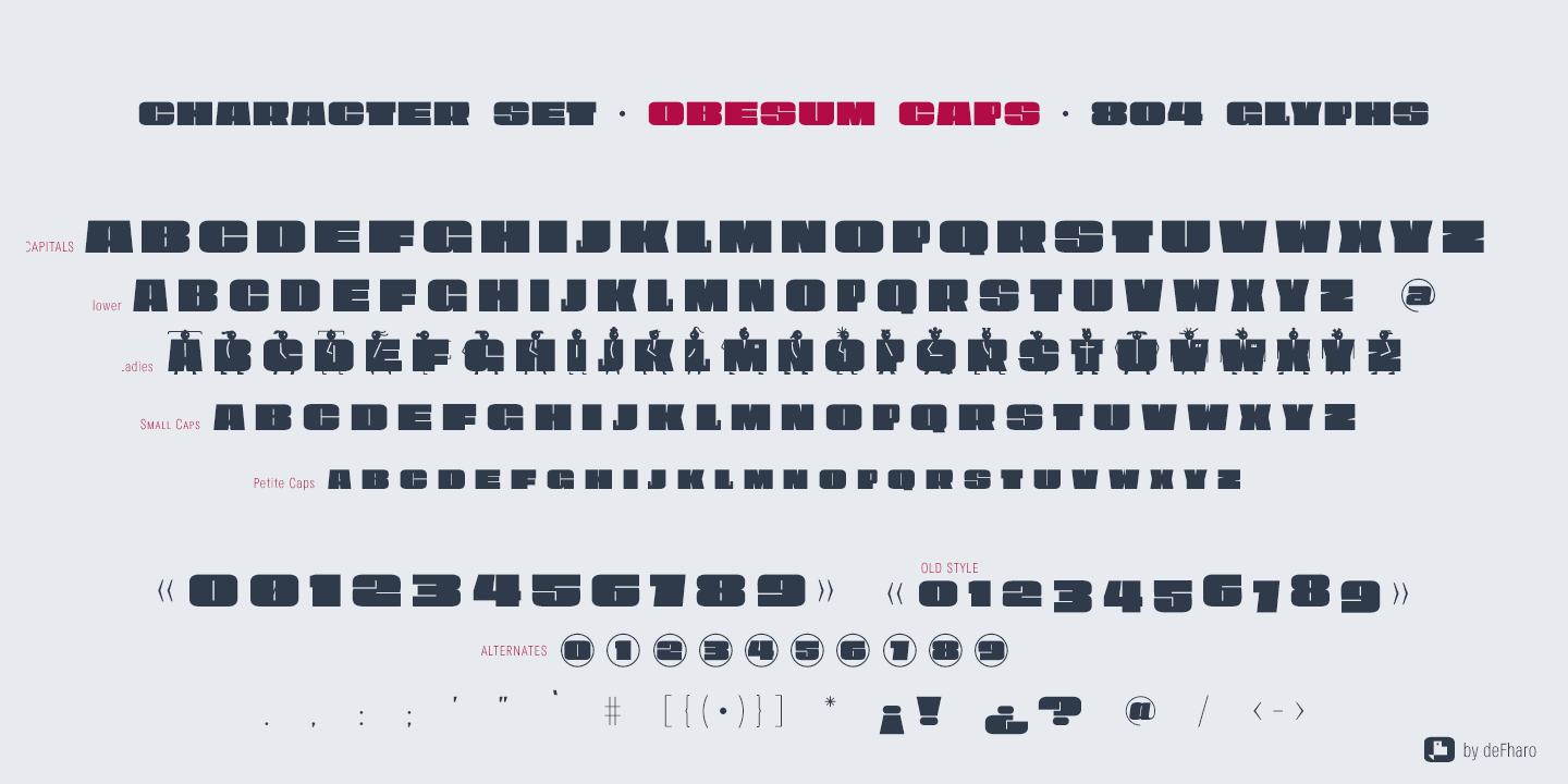 Obesum-Caps-character-set-typeface