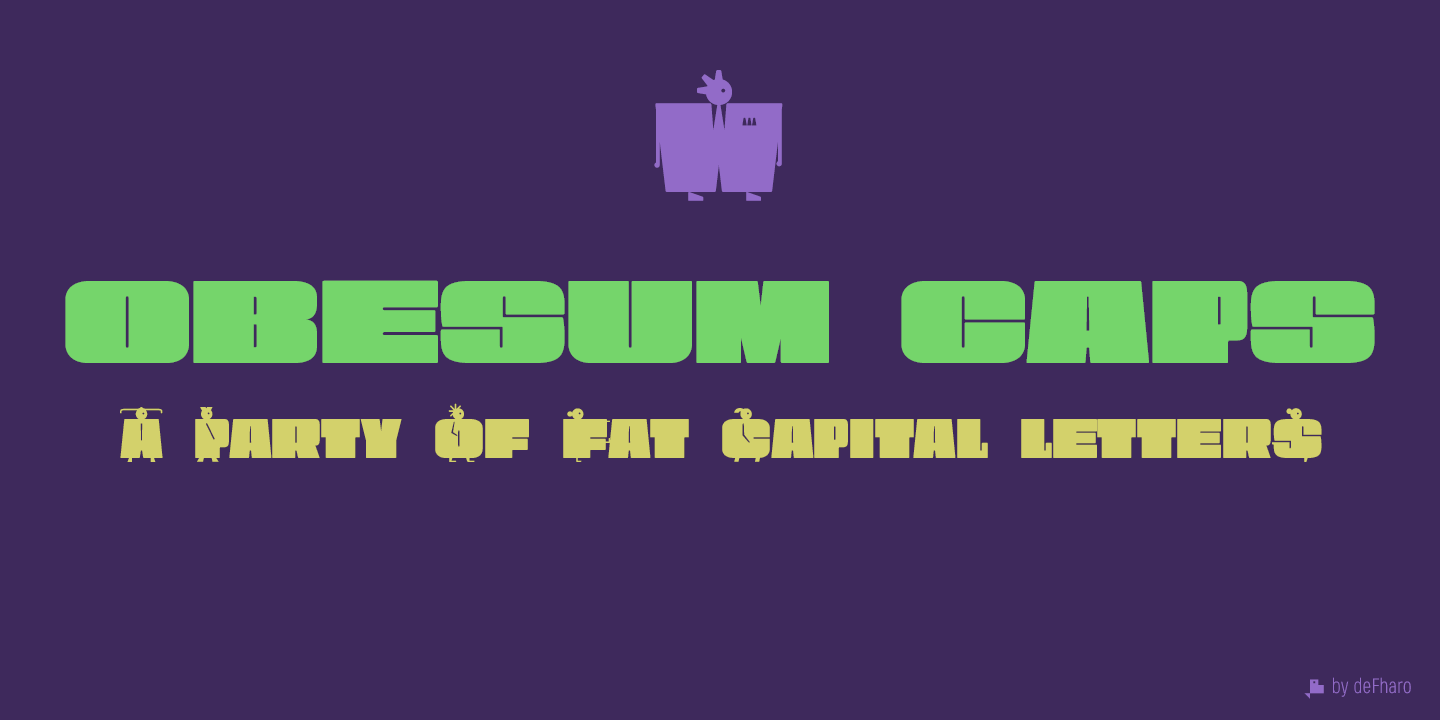 Obesum-Caps-fat-extended-typeface