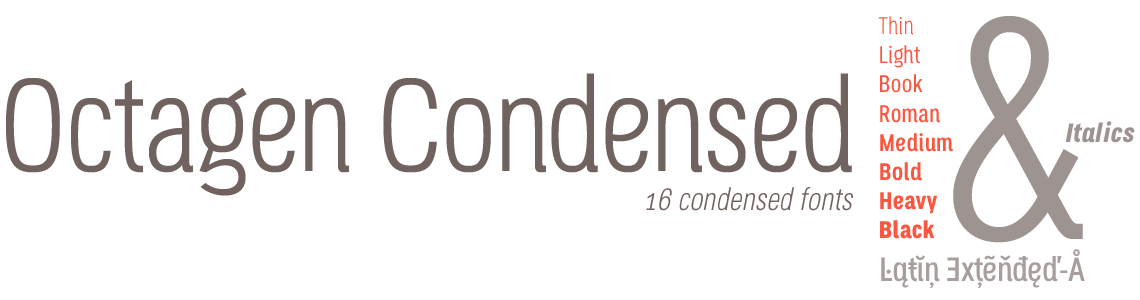 Octagen Condensed Fonts -Latin Extended-A
