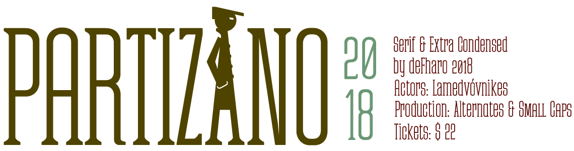 Partizano Regular & Small Caps. Extra Condensed