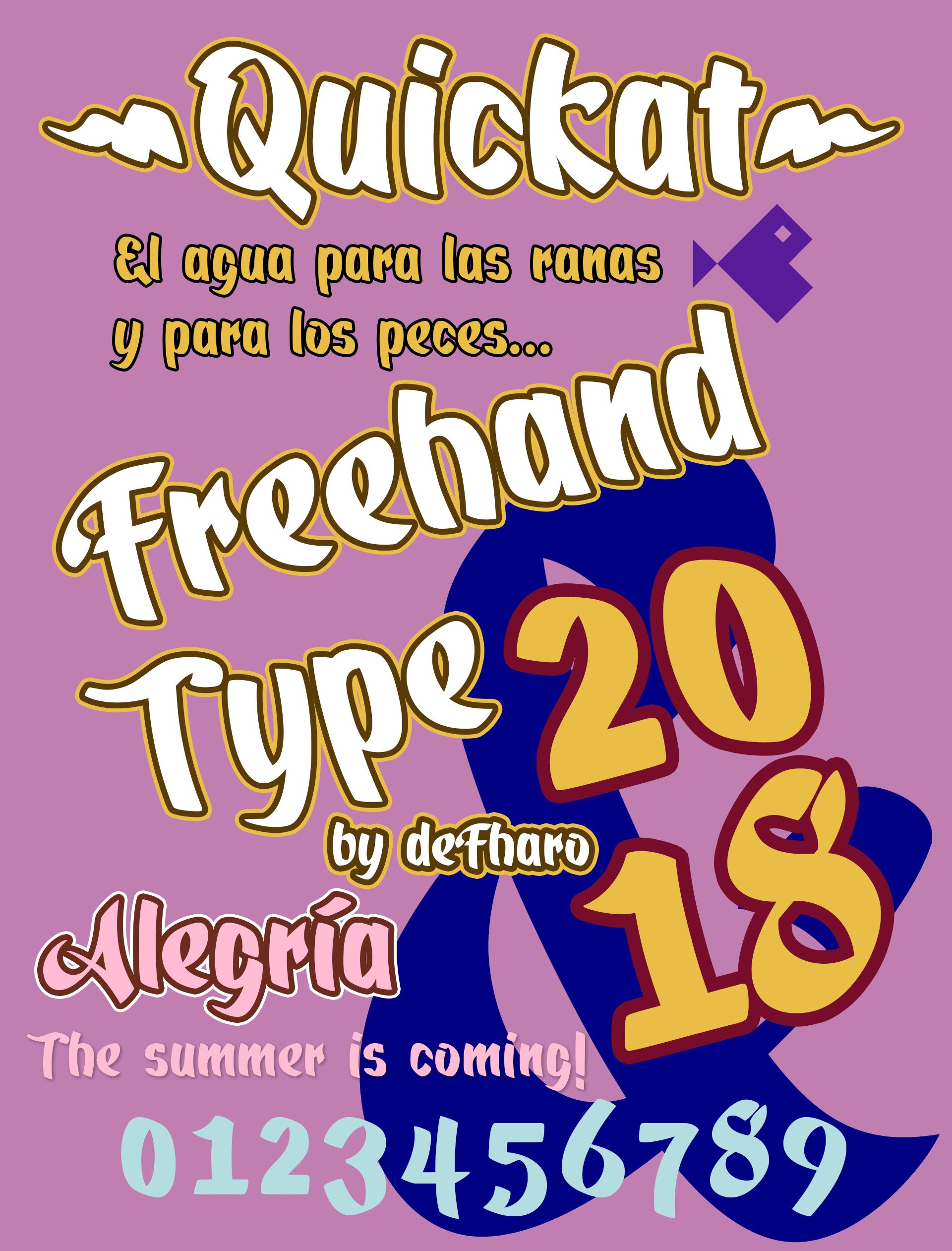 Quickat fonts 2018