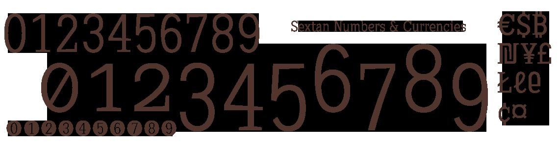 Sextan Serif Numbers Y Currencies. Bitcoin