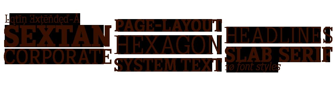 Sextan Serif System Text. Lapidary
