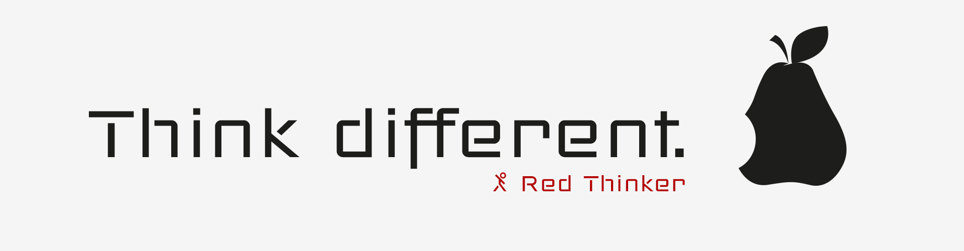 Red Thinker Typefaces- Think different