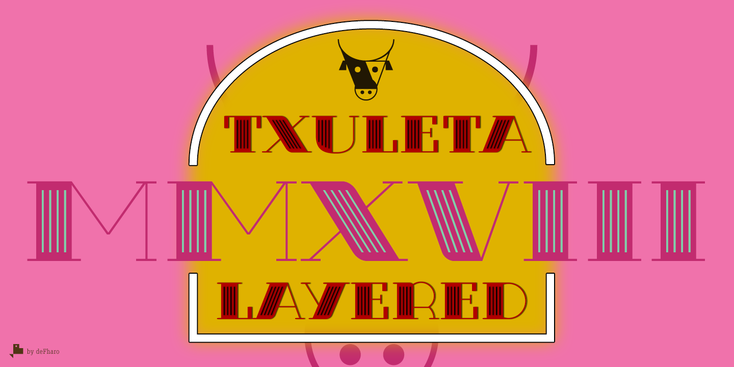 Txuleta-modern-layered-display-typeface