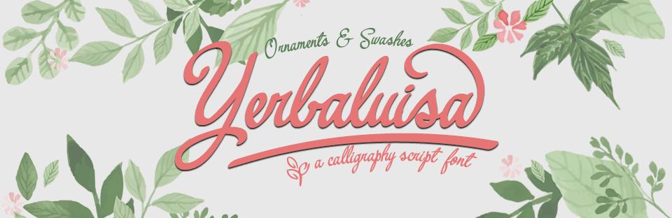 yerbaluisa calligraphic script font