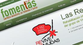 Página web y gestor de contenidos realizada en Joomla para empresa de promoción de vivienda y suelo de Gran Canaria