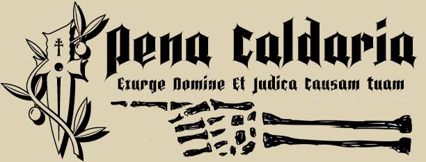 Pena Caldaria -Ghotic font-