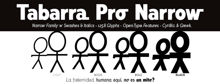 Tabarra Pro Narrow Fonts