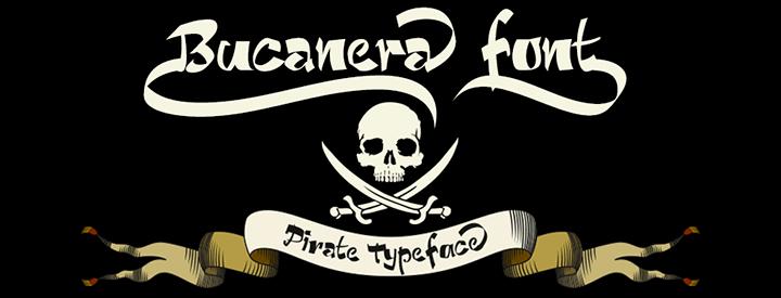 Bucanera -Pirate font-