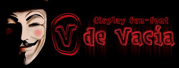 V de Vacía: Fuente 100% gratis