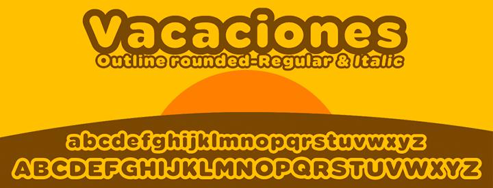 Vacaciones outline font