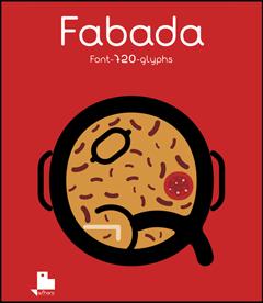 Poster de la tipografía Fabada