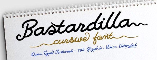 Bastardilla -cursiva concatenada-