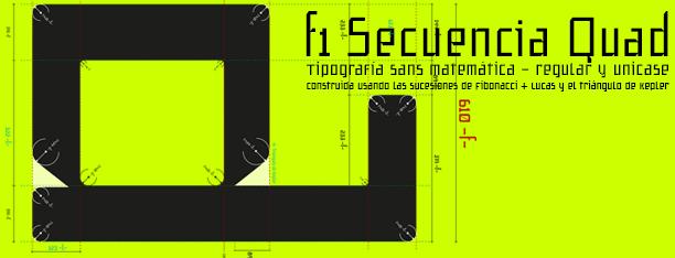 Secuencia Quad, una tipografía Fibonacci
