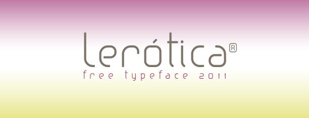 Lerótica, tipografía y diseño gráfico