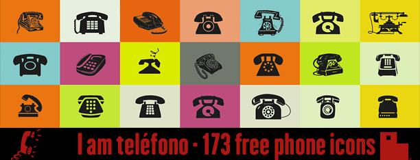 173 iconos telefónicos gratis