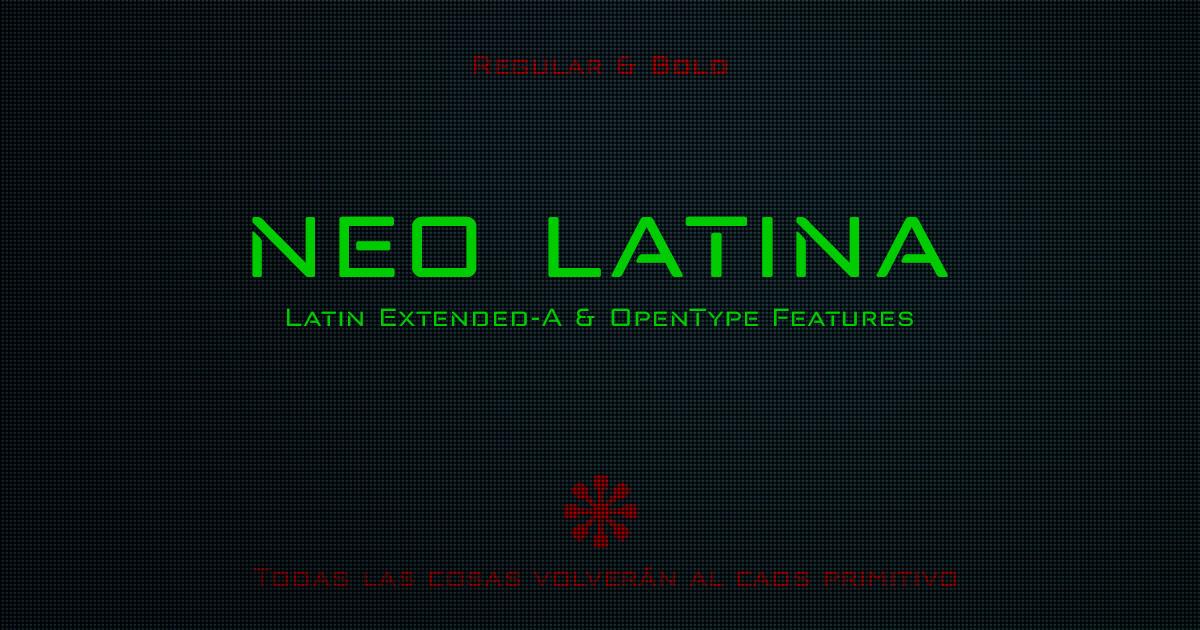 Neo Latina, fuentes sans serif futuristas de formas geométricas 2017