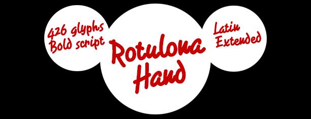 Rotulona Hand font