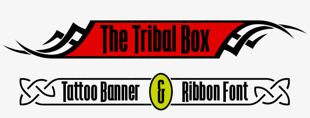 The Tribal Box, banner typeface
