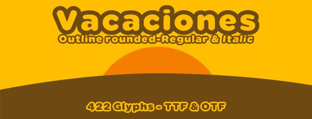Vacaciones free font