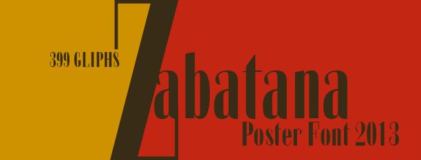 Zabatana -2x1 Fonts-