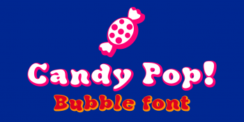 Candy Pop font-blue