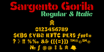 Sargento Gorila typeface currency