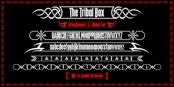 the Tribal Box font-black