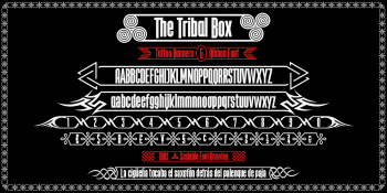 the Tribal Box font specimen b