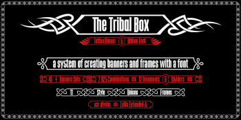 the Tribal Box font system-b