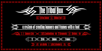 the Tribal Box font system2-b