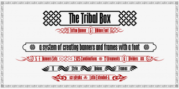the Tribal Box font system2-w