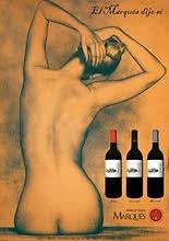 Concepto erótico para cartel publicitario de vinos de Rivera del Duero